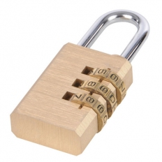 Silverline 744867 Combination Padlock Brass 3-digit