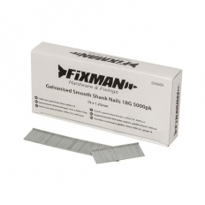 Fixman 856869 Galvanised Smooth Shank Nails 18G 19 x 1.25mm Pack of 5000