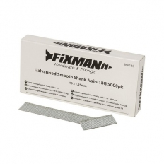 Fixman 868140 Galvanised Smooth Shank Nails 18G 16 x 1.25mm Pack of 5000