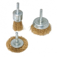 Silverline 985332 Wire Wheel & Cup Brush Set 3pce 6mm Shank