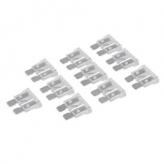 Silverline 986411 ATO Regular Automotive Blade Fuses 10pk 25A Clear