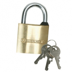Silverline MSS01 Brass Padlock 20mm