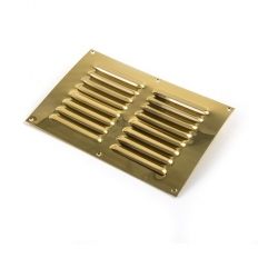 "Stadium BM342 Brass Louvred Ventilator Polished Brass 9.1/2"" x 6.1/2"""