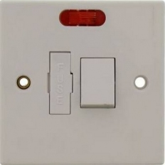 Status S13AFSSWNB8 Spur Switch 1 Gang 13 amp Fused Switched with Neon Indicator White