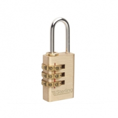 Sterling CPL120 Brass Combination Padlock 20mm 3 Dial