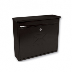 Sterling MB02BK Elegance Post Box Square Black