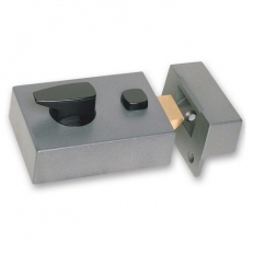 Sterling NLG101 Standard Double Locking Night Latch Grey