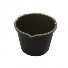 Builders Bucket Black 3 Gallon With Metal Handle