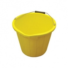 Builders Bucket Yellow 3 Gallon With Metal Handle