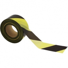 Ultratape 002570500BY Yellow and Black Barrier Tape 70mm x 500 Metre