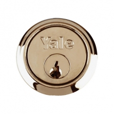Yale P-4KP1109-PB Replacement Cylinder Brass with 4 Keys Pre Packed